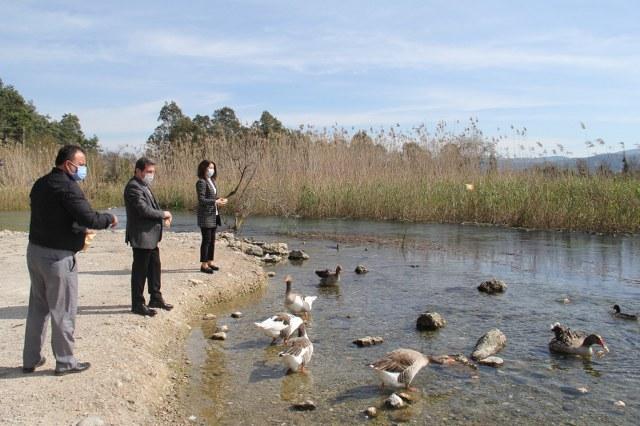 Vali Orhan Tavlı Azmak Nehrinde İncelemelerde Bulundu