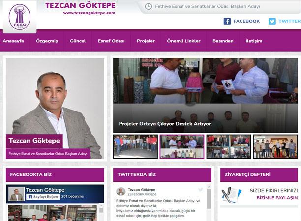 Başkan Adayı Göktepe İnternet Sitesiyle de Öne Çıkıyor